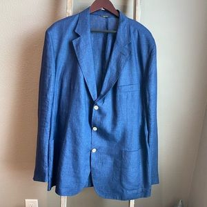 💯Authentic Loro Piana linen blazer  size 58